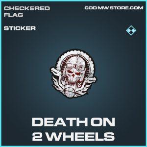 Death on 2 wheels sticker rare call of duty modern warfare warzone item