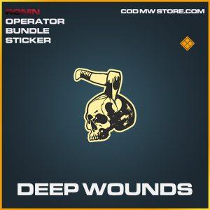 Deep wounds legendary sticker call of duty modern warfare warzone item