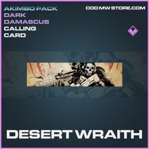 Desert Wraith calling card epic call of duty modern warfare warzone item