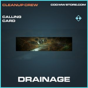 Drainage calling card rare call of duty modern warfare warzone item