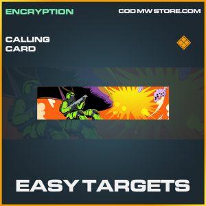 Easy Targets calling card legendary call of duty modern warfare warzone item