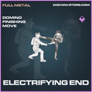 Electriyfing End Domino finishing move epic call of duty modern warfare warzone item