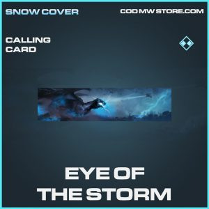 Eye of the storm calling card rare call of duty modern warfare warzone item
