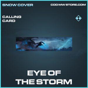 Eye of the storm calling card rare call of duty modern warfare warzone item