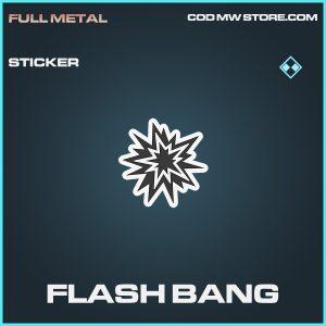 Flash Bang sticker rare call of duty modern warfare warzone item