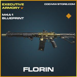 Florin M4A1 skin legendary blueprint call of duty modern warfare warzone item