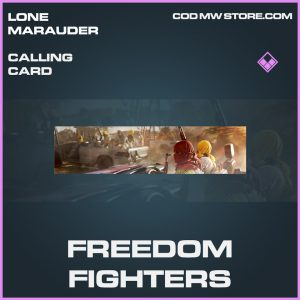 Freedom fighters calling card epic call of duty modern warfare warzone item