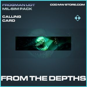 From the depths calling card rare call of duty modern warfare warzone item