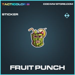 Fruit Punch sticker rare call of duty modern warfare warzone item