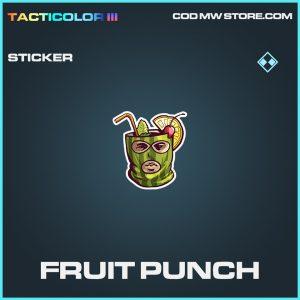 Fruit Punch sticker rare call of duty modern warfare warzone item