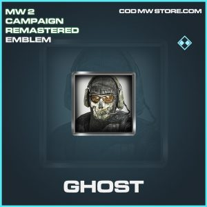 Ghost emblem rare call of duty modern warfare warzone item
