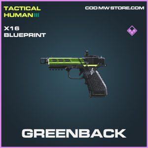 Greenback X16 skin epic blueprint call of duty modern warfare warzone item