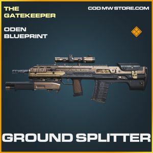Ground Splitter Oden skin legendary blueprint call of duty modern warfare warzone item