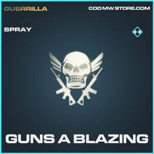 Guns a blazing spray rare call of duty modern warfare warzone item