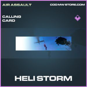 Heli storm calling card epic call of duty modern warfare warzone item