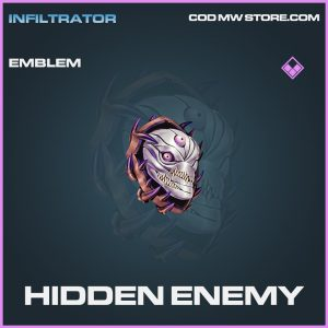 Hidden Enemy emblem epic call of duty modern warfare warzone item
