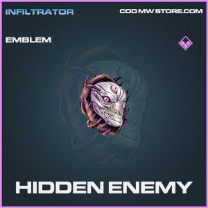 Hidden Enemy emblem epic call of duty modern warfare warzone item