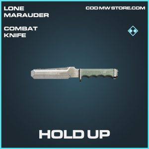 Hold Up combat knife rare call of duty modern warfare warzone item