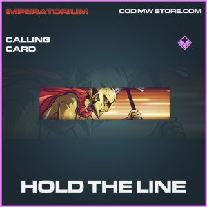 Hold the line calling card epic call of duty modern warfare warzone item