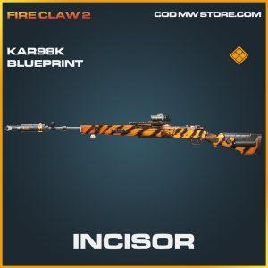 Incisor KAR98k skin legendary blueprint call of duty modern warfare warzone item