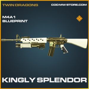 Kingly Splendor M4A1 skin legendary blueprint call of duty modern warfare warzone item