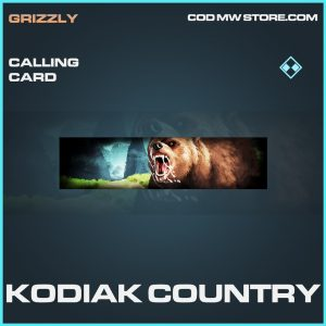 Kodiak Country calling card rare call of duty modern warfare warzone item
