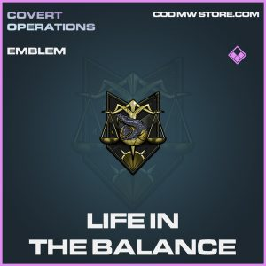 Life in the balance emblem epic call of duty modern warfare warzone item