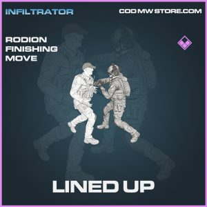 Lined Up rodion finishing move epic call of duty modern warfare warzone item