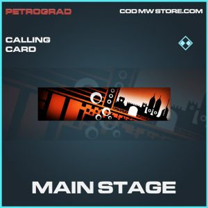 Main stage calling card rare call of duty modern warfare warzone item