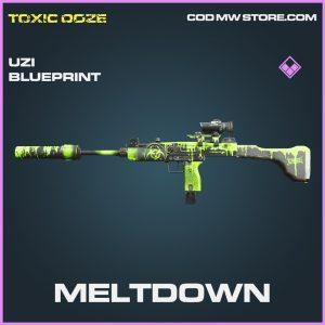 Meltdown uzi skin epic blueprint call of duty modern warfare warzone item