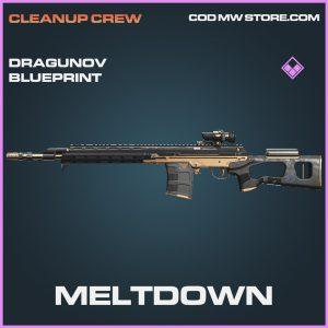 Meltdown Dragunov skin epic blueprint call of duty modern warfare warzone item