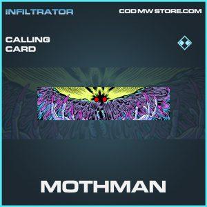 Mothman calling card rare call of duty modern warfare warzone item