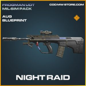 Night Raid aug skin legendary blueprint call of duty modern warfare warzone item