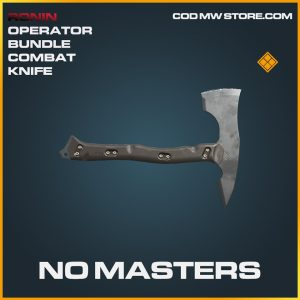No Masters combat knife axe legendary call of duty modern warfare warzone item