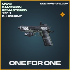 One for one 1911 skin legendary blueprint call of duty modern warfare warzone item