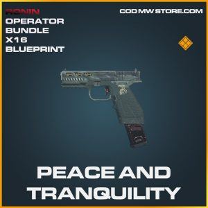 Peace and Tranqulity X16 skin legendary blueprint call of duty modern warfare warzone item