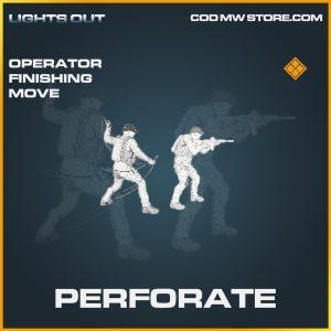 Perforate operator finishing move legendary call of duty modern warfare warzone item