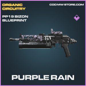 Purple Rain PP19 Bizon skin epic blueprint call of duty modern warfare warzone item