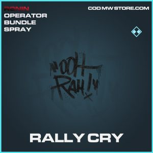 Rally Cry spray rare call of duty modern warfare warzone item