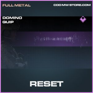 Reset epic domino quip call of duty modern warfare warzone item