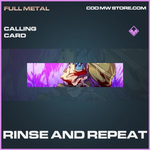 Rinse and Repeat calling card epic call of duty modern warfare warzone item