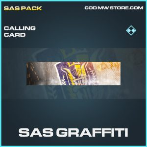 SAS Graffiti calling card rare call of duty modern warfare warzone item