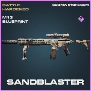 Sandblaster M13 skin epic blueprint call of duty modern warfare warzone item
