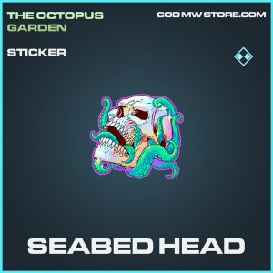 Seabed head sticker rare call of duty modern warfare warzone item