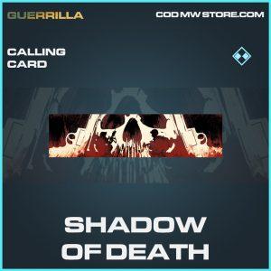 Shadow of Death calling card rare call of duty modern warfare warzone item