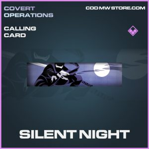 Silent Night calling card epic call of duty modern warfare warzone item