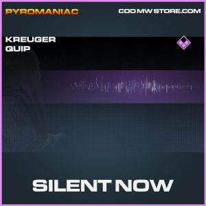 Silent now kreuger quip epic call of duty modern warfare warzone item