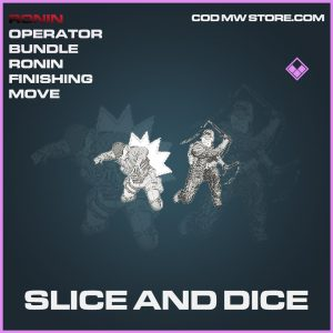 Slice and Dice ronin finishing move epic
