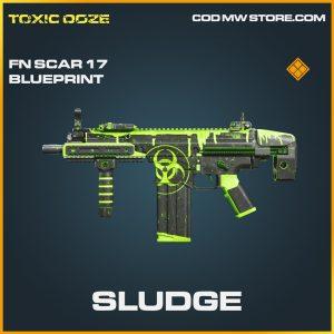 Sludge fn scar 17 skin legendary blueprint call of duty modern warfare warzone item