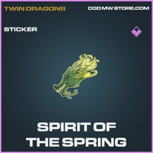 Spirit of the spring sticker epic call of duty modern warfare warzone item